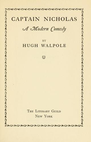 Captain Nicholas by Hugh Walpole