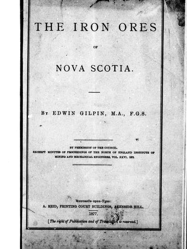 Download The iron ores of Nova Scotia
