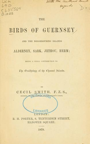 Download The birds of Guernsey