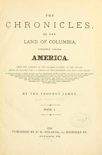 The chronicles, of the land of Columbia