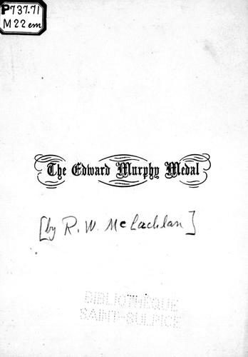 Download The Edward Murphy medal