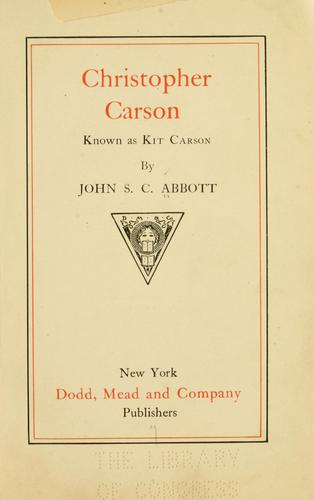 Download Christopher Carson, known as Kit Carson