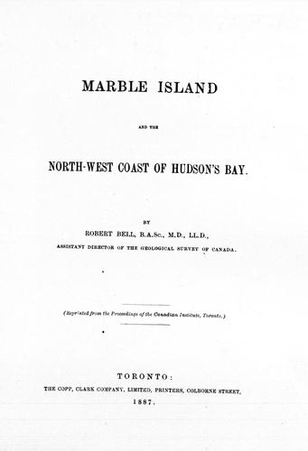Download Marble Island and the north-west coast of Hudson's Bay