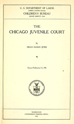 The Chicago Juvenile court