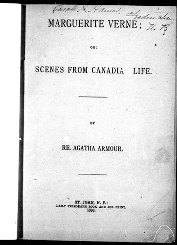 Marguerite Verne, or, Scenes from Canadian life