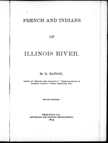 Download French and Indians of Illinois River