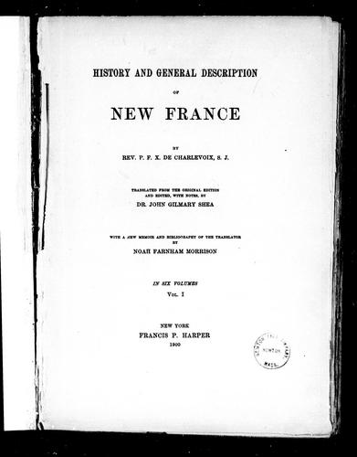 Download History and general description of New France