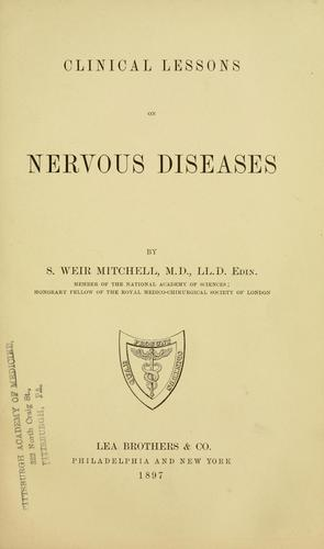 Download Clinical lessons on nervous diseases.
