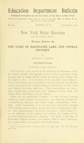 … The code of Handsome Lake, the Seneca prophet
