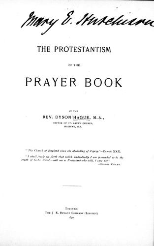 The Protestantism of the prayer book