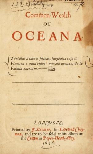 The common-wealth of Oceana …