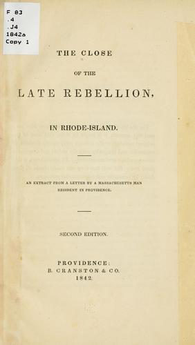 Download The close of the late rebellion, in Rhode-Island