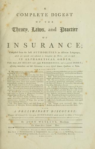 Download A complete digest of the theory, laws, and practice of insurance