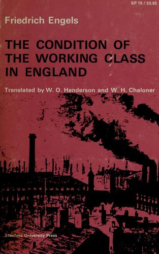 Download The condition of the working class in England.