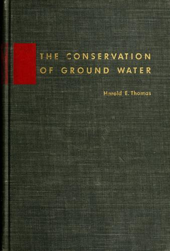 The conservation of ground water