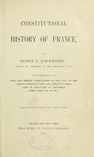 Constitutional history of France.