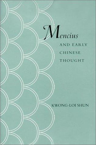 Mencius and Early Chinese Thought
