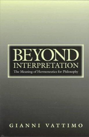Beyond interpretation