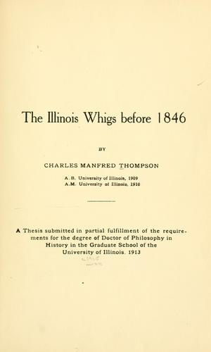 The Illinois Whigs before 1846.