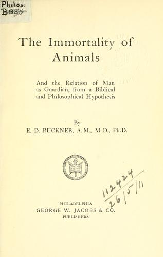 Download The immortality of animals