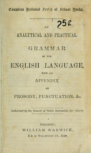 Download An analytical and practical grammar of the English language