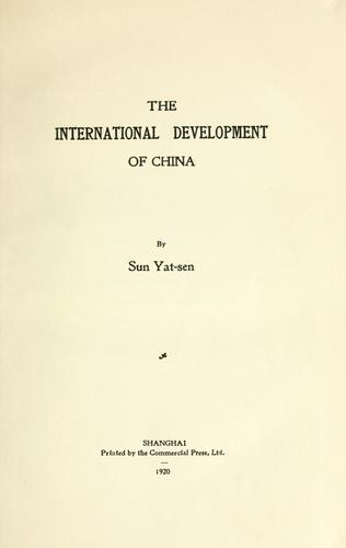 Download The international development of China.