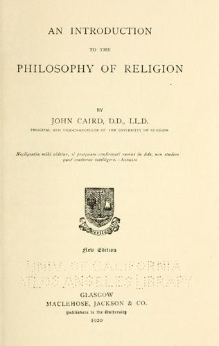 Download An introduction to the philosophy of religion