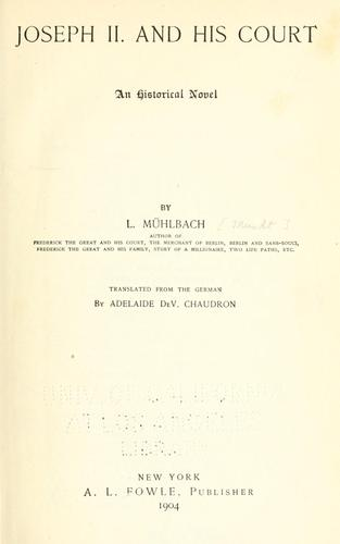 Download Joseph II and his court