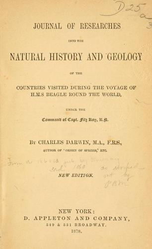 Download Journal of researches into the natural history and geology of the countries visited during the voyage of H.M.S. Beagle round the world, under the command of Capt. Fitz Roy