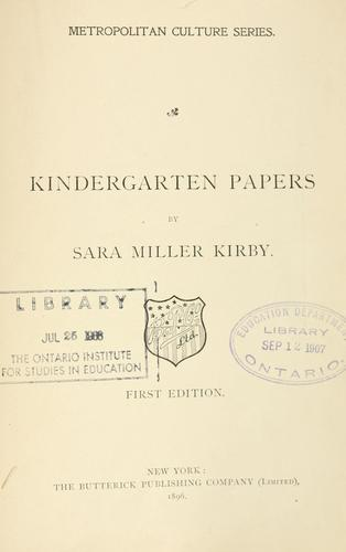 Download Kindergarten papers