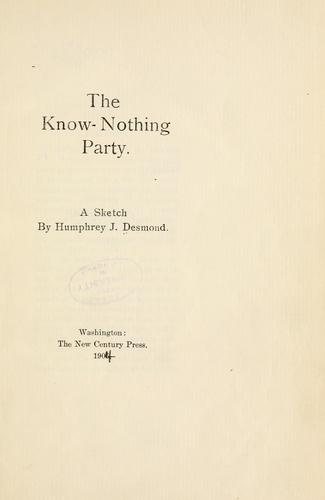 The Know-Nothing party
