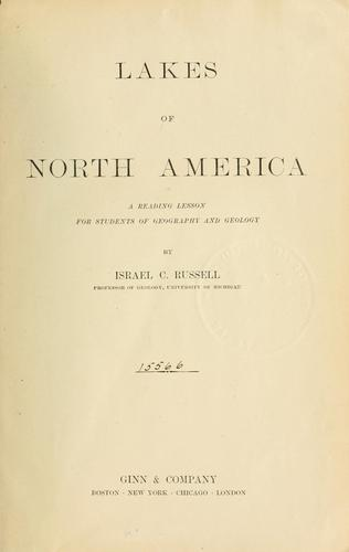 Download Lakes of North America