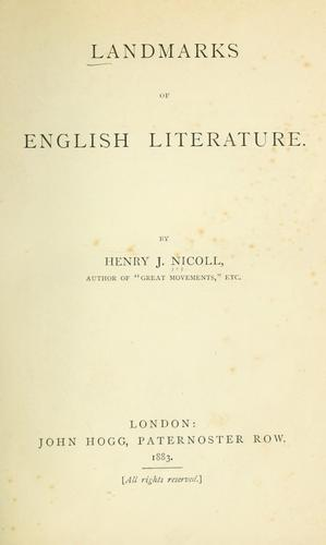 Landmarks of English literature.