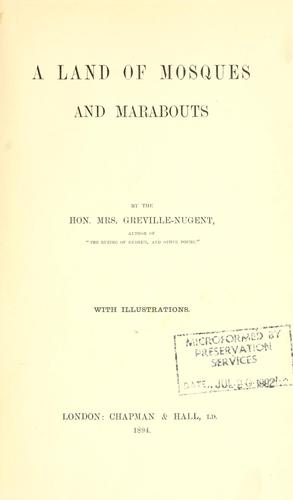 Download A land of mosques and marabouts.