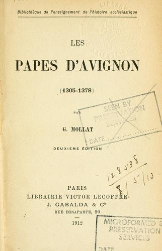 Download Les Papes d'Avignon (1305-1378)