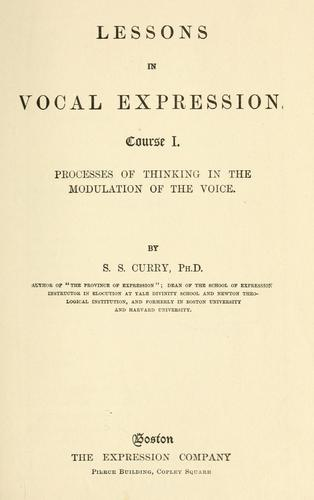 Lessons in vocal expression