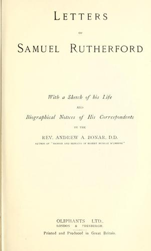 Download Letters of Samuel Rutherford