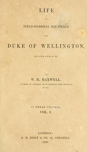 Download Life of Field-Marshal His Grace the Duke of Wellington.