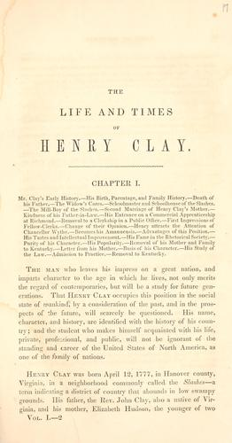 Download The life of Henry Clay