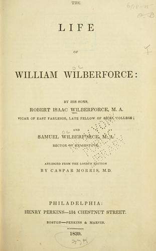 Download The life of William Wilberforce