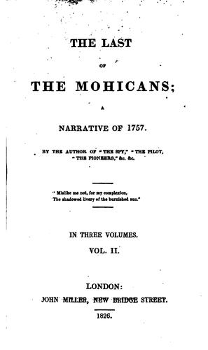 Download The Last of the Mohicans;: A Narrative of 1757