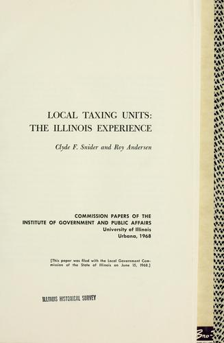Local taxing units