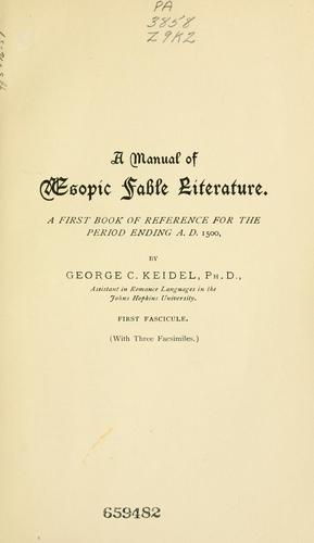 A manual of Aesopic fable literature