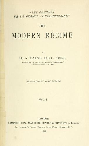 Download The modern régime.