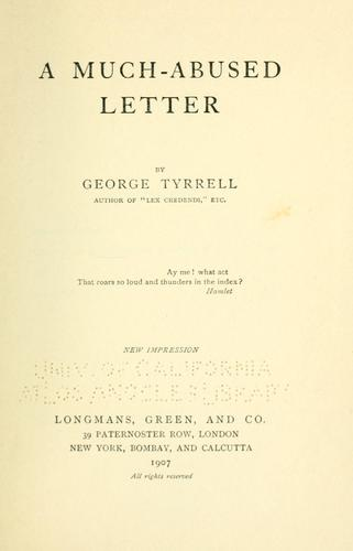 Download A much-abused letter