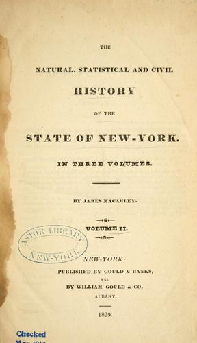 The natural, statistical, and civil history of the state of New-York.