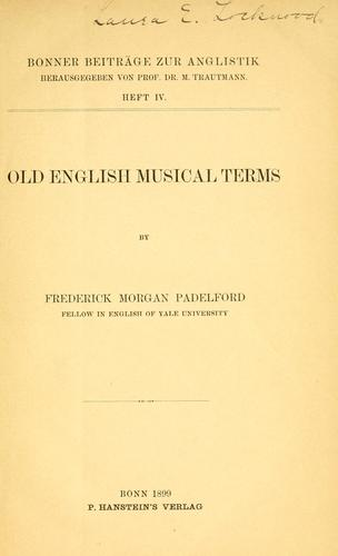 Download Old English musical terms.