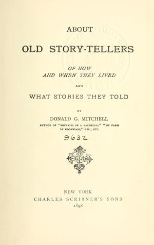 About old story-tellers