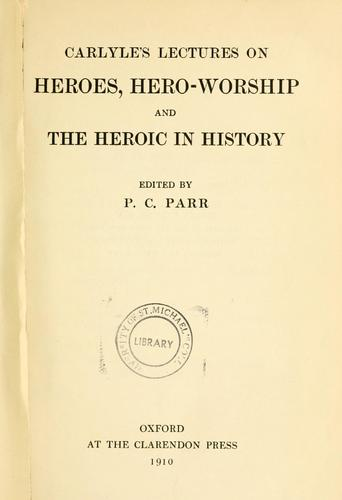 Download On heroes, hero-worship and the heroic in the history