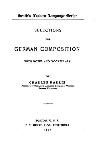 Selections for German Composition …